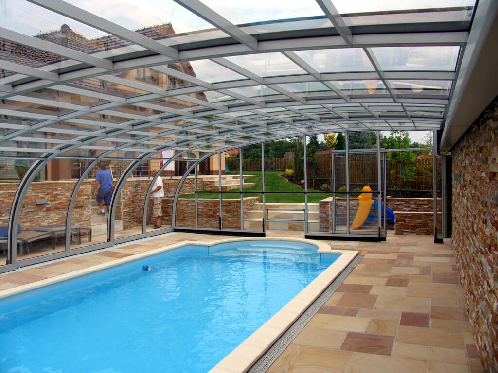 Pool enclosures palm beach enclosures Retractable swimming pool enclosures